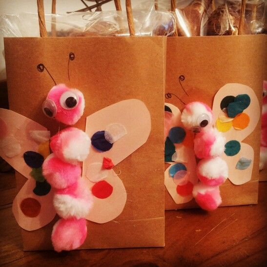Butterfly gift bags, bulbs inside for Mother's Day