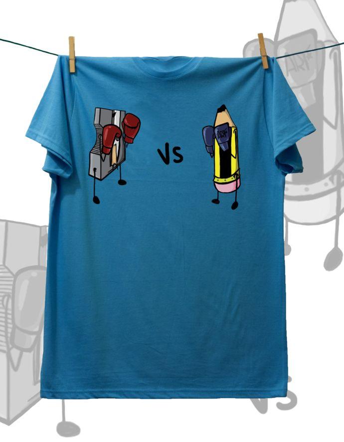 Camiseta ·MXH· Sacapuntas vs Lápiz