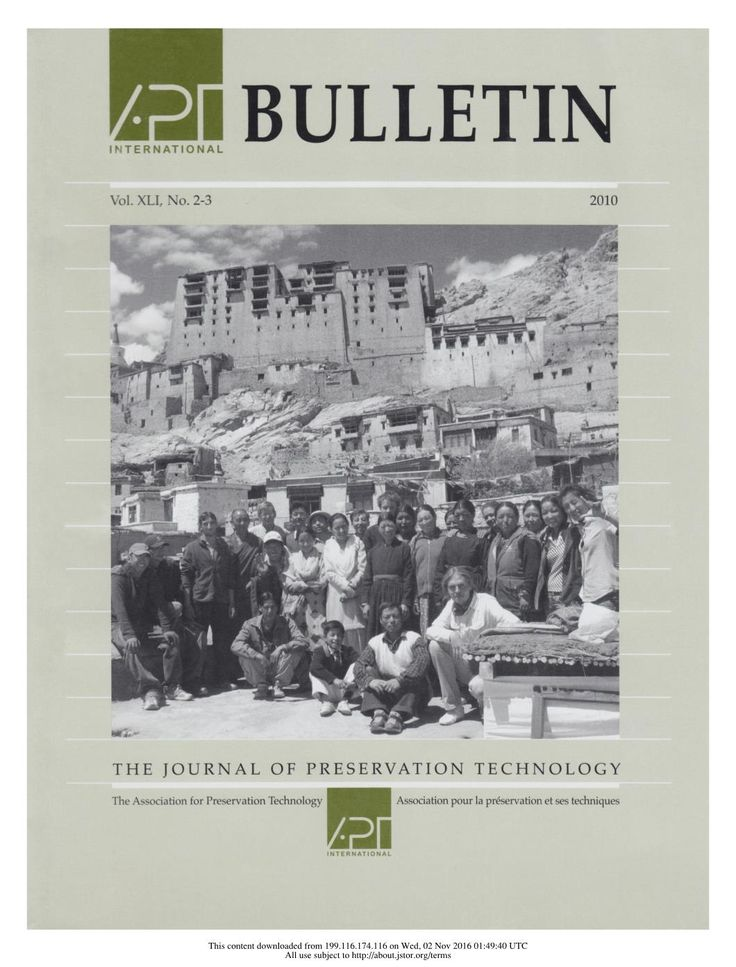 APT Bulletin Vol. 41, No. 2/3, 2010