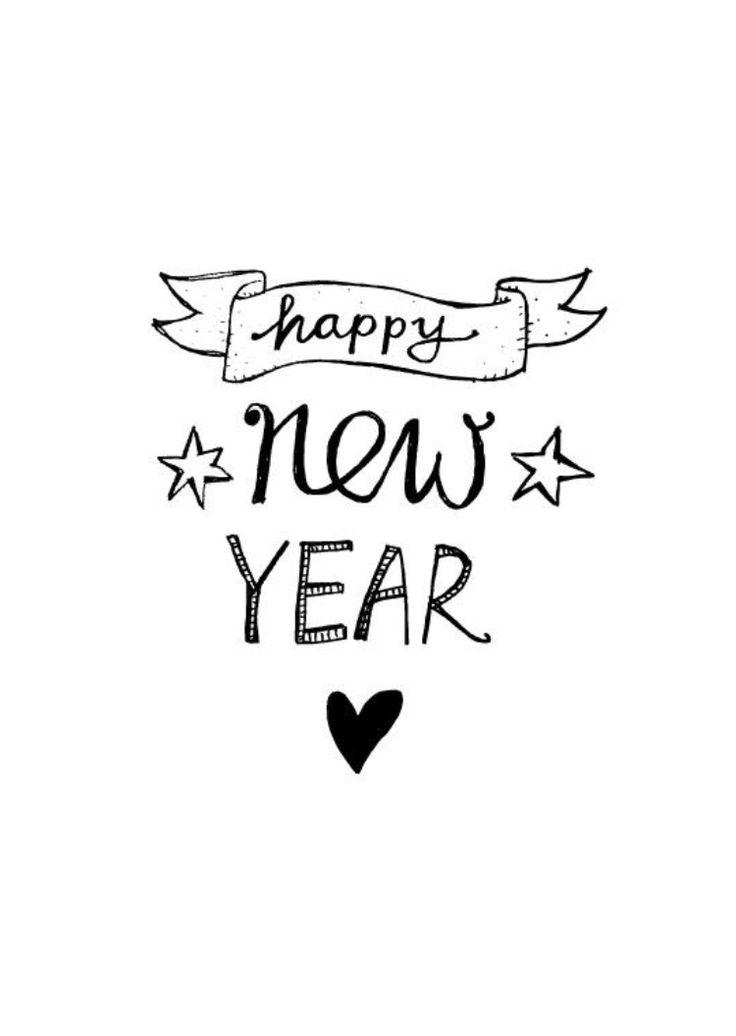 Happy New years kaart