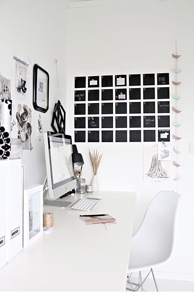 Blackboard Wall Art {decor inspiration} | The Pretty Blog