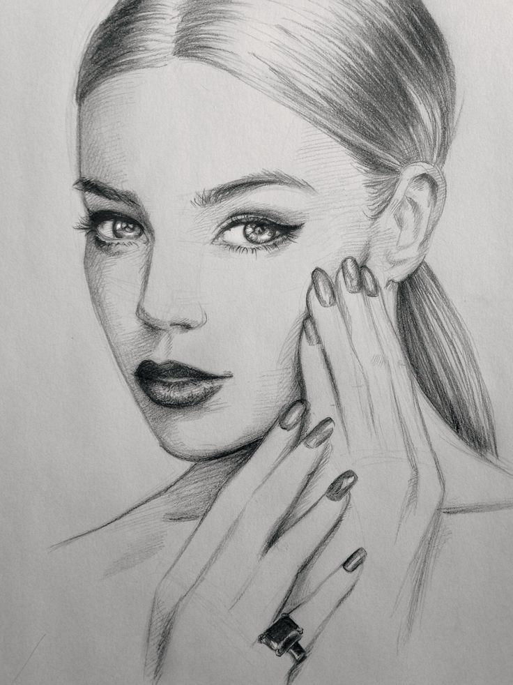 #nails #art #sketch #drawing #makeup #hair #beautiful ...
