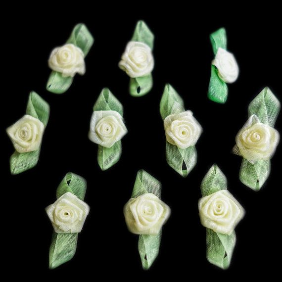 Miniature Sheer Yellow Coiled Ribbon Rose Buds by ColourCocoon