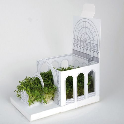 Buy or Make Gift. Why send a postcard when you can send a botanical PostCarden - Pop-up transforming mini gardens. (Unfold, pour seeds, water)  From PostCardenshop (I could not find them online, but saved pic/idea anyway)