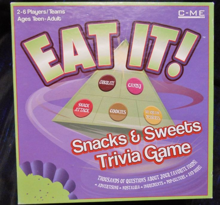Eat It Snacks and sweets Trivia game for Teens and adults complete game