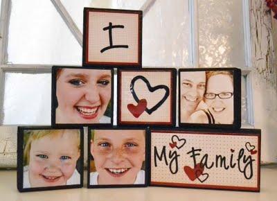 Family photo blocks