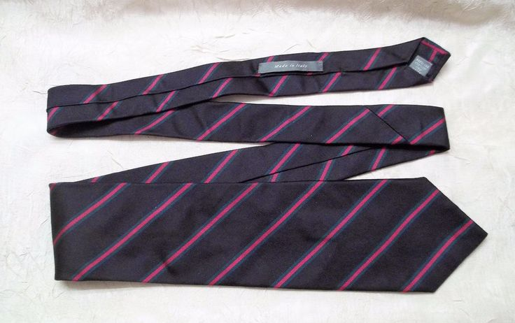 Daniel Cremieux Signature Collection Men's Navy Necktie Made In Italy New w/ Tag #DanielCremieux