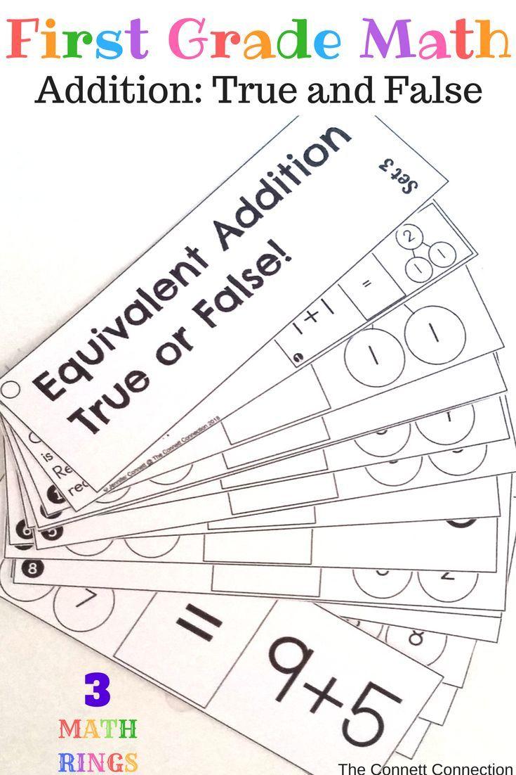 first grade math true or false equations | *firsties jackie crews
