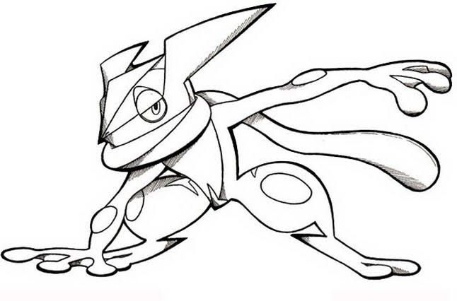 Pokemon Coloring Pages Ash Greninja Background