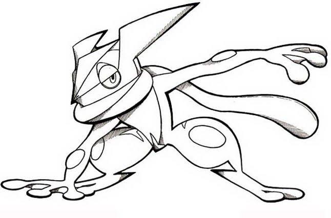 Pokemon Greninja Drawing In 2020 Pokemon Coloring Pages Pokemon Coloring Super Coloring Pages