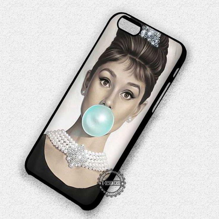 Bublegum Audrey Hepburn Vintage - iPhone 7 6 5 SE Cases & Covers