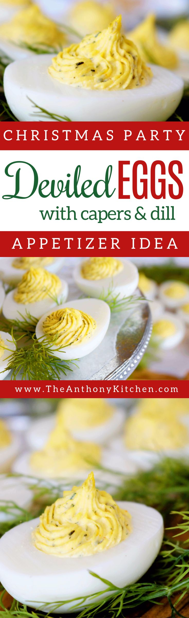 Deviled Egg Recipe | A recipe for Southern deviled eggs, featuring capers, tarragon vinegar, and Dijon mustard to givethis appetizer a unique twist | #partyfood #fingerfood #fancyappetizers #potluckpartyfood