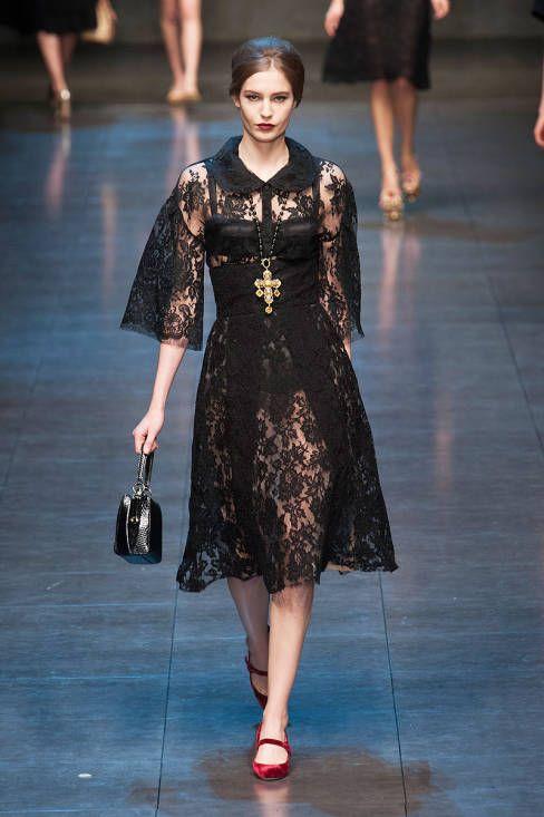 Dolce & Gabbana Fall 2013 Ready-to-Wear Runway - Dolce & Gabbana Ready-to-Wear Collection - ELLE