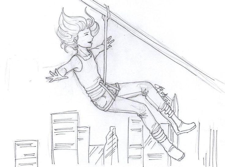 D Line Drawings Zip : Tris prior divergent zipline by chrysalisgrey