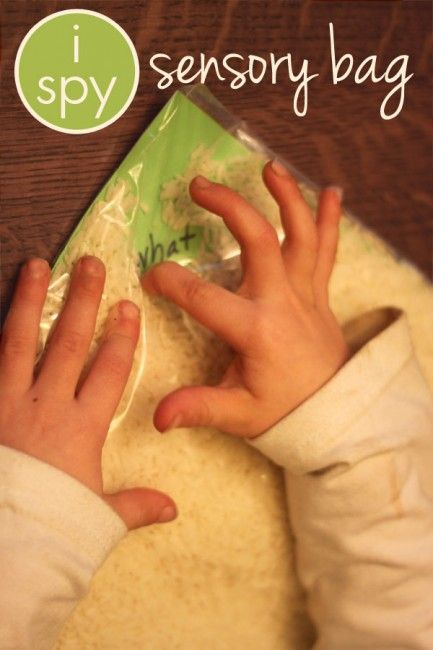 I Spy Sensory Bag for Sight Words & Letters - words or letters on cardboard, put in Ziplock & fill with rice.