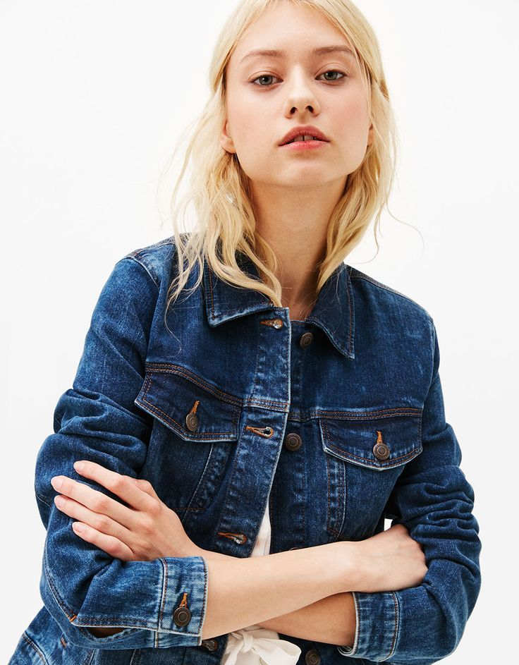 Jean jacket - Coats & Jackets - Bershka Czech Republic