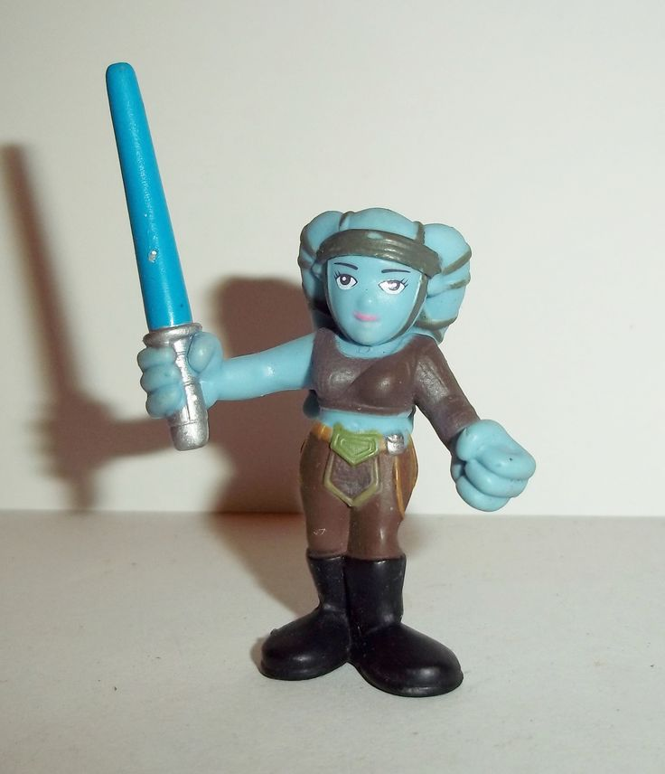 Hasbro Star Wars GALACTIC HEROES AAYLA SECURA Condition: Overall Excellent - Very minor shelf wear at most Figure size: approx. 2 inch Looking for more STAR WARS Galactic Heroes? CLICK HERE! Stock up