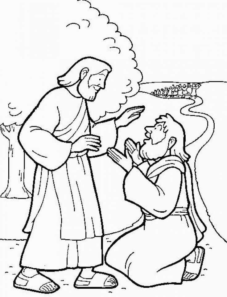 jesus heals the 10 lepers coloring pages | 14 Best 10 Melaatsen Jesus Heals 10 Lepers Images On for ...