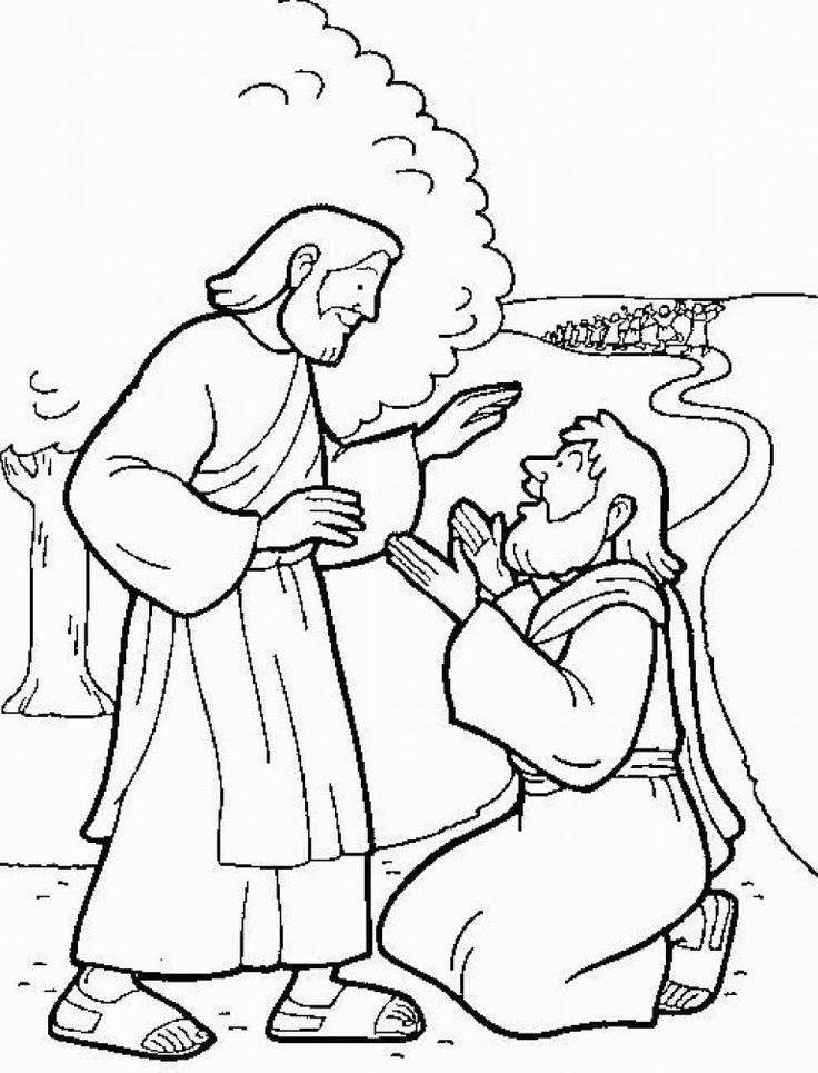 coloring pages healings of jesus | 14 Best 10 Melaatsen Jesus Heals 10 Lepers Images On for ...