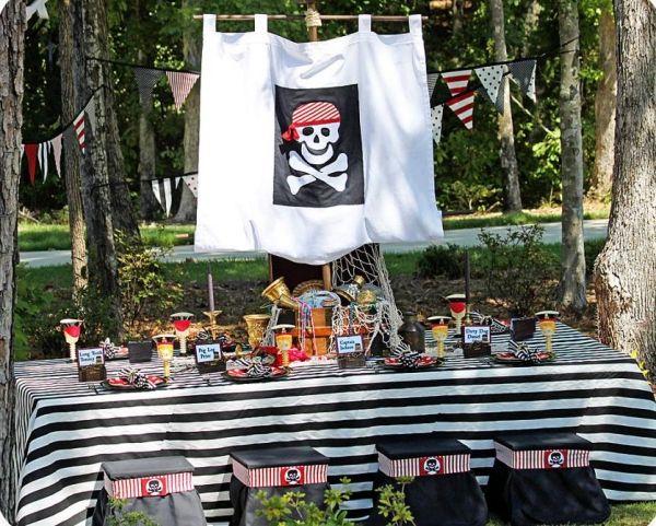 Kindergeburtstag Deko für Jungs ideen piratenparty - Wohnideen- Magazin für Innenarchitektur, Architektur, Dekoration