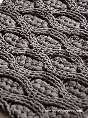 Airali handmade. Where is the Wonderland?: Puff stitch and crochet cables