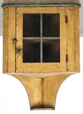 Contemporary David Smith Painted Pine Hanging Cor