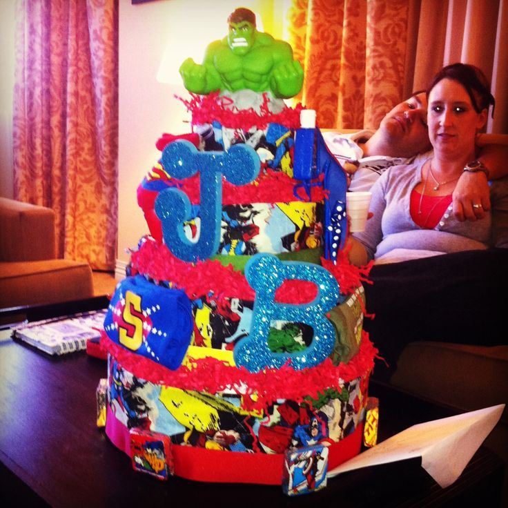 Marvel Baby Shower Marvel Diaper Cake Party And Gift