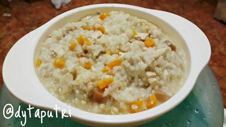THE DYTAPUTRI: Resep MPASI : Chicken Tofu Mushroom Risotto (10m)