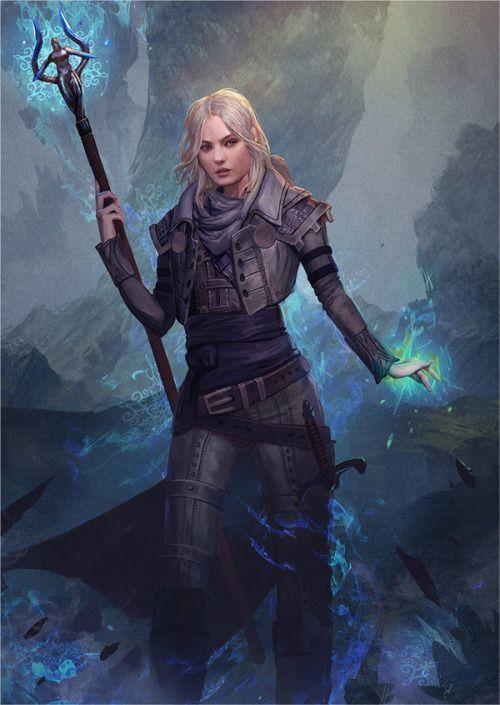 Leaena by GerryArthur | Fantasy art , exeplorer | Character design | Female, woman, girl | blonde | Warrior, magician
