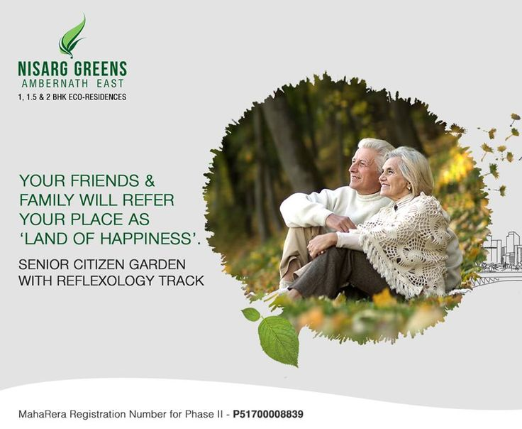 Nisarg Greens - Ambernath East 1, 1.5 & 2 BHK Eco-Residences Senior Citizen Garden With Reflexology Track #MahaRera Registration Number for Phase II - P51700008839 To know more log on to: http://www.nisarggroup.com/greens/ Or you can call on: 08655 787878   SMS 'GREENS' to 56161 #NisargGreens #Ambernath #RealEstate #EcoLuxury #Property #Homes