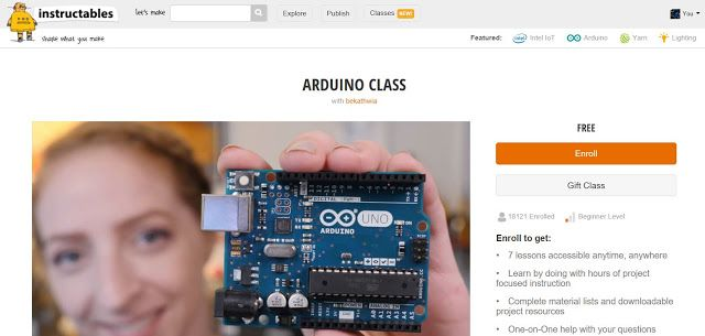 Join the Instructables Arduino Class  Enroll