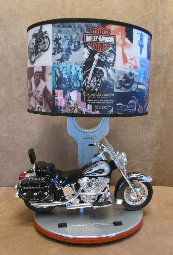 Harley Davidson Motorcycle Heritage Softail Table Lamp Desk Nightlight  Sounds | Unique Home Decor | Pinterest | Desks