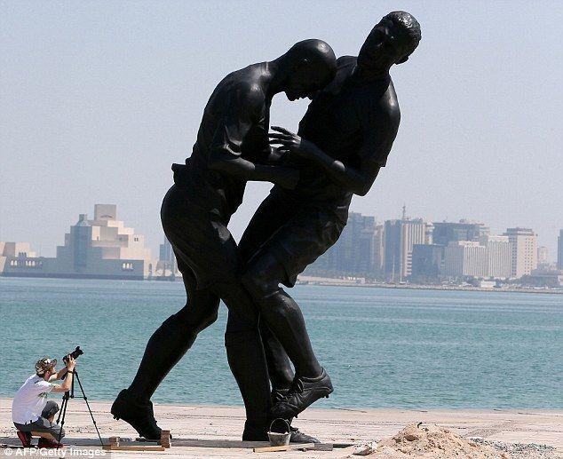 Zinedine Zidane's headbutt statue removed from Qatar's Corniche promenade