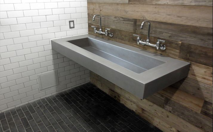 Custom Concrete Bathroom Sinks Trueform Concrete Industrial Coastal Pin