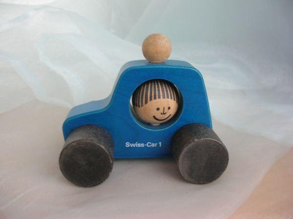 Blau Swiss car 1 Nr 9501 -  Peter Schweizer-Scolari by Naef Spiele