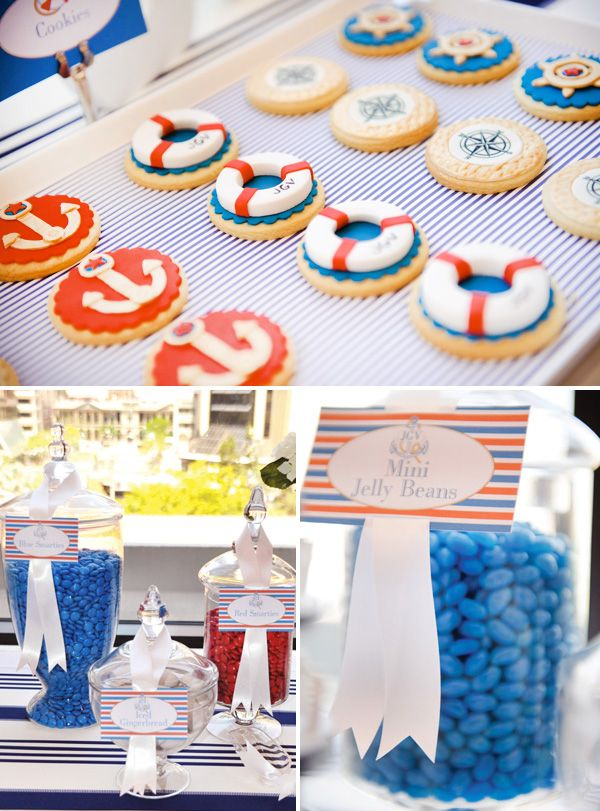 In love with this party theme! I love nautical so much!!