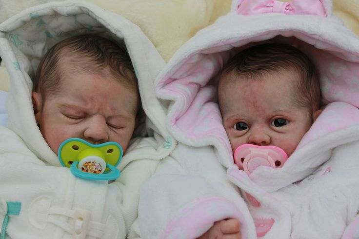 Beautiful Reborn Baby Twin Dolls Boy and Girl Sculpted by ...