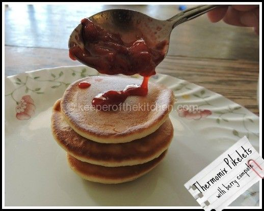 Australia Day Breakfast:  Pikelets with Berry Compote