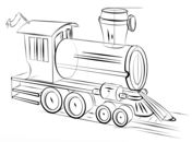 How to draw a steam train Drawing tutorial