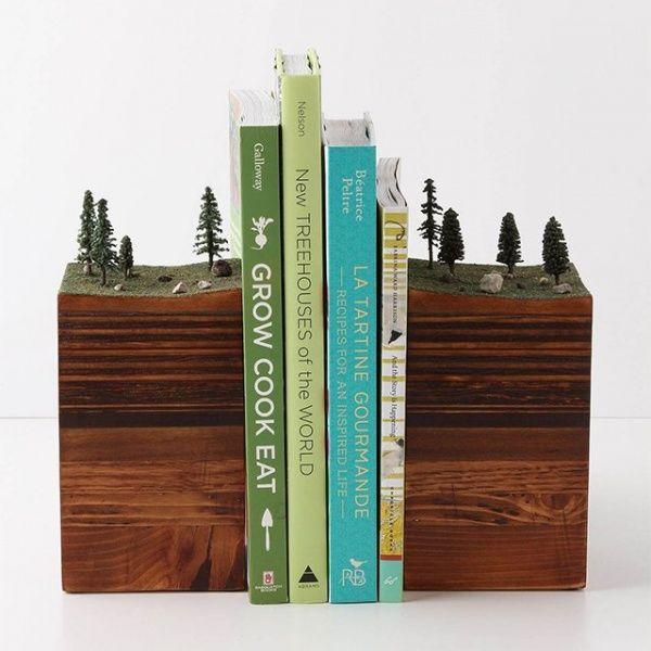 Die besten 25+ Buchstütze holz Ideen auf Pinterest Moderne - coole buchstutzen kreativ dekorativ stabil