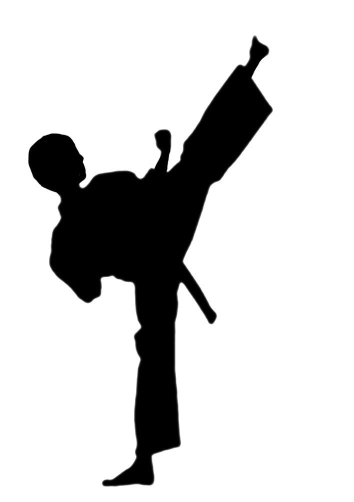 Karate Clipart I Could Possibly Modify This One To Be A Curly Haired Girl Kids Silhouette Clip Art Silhouette Free