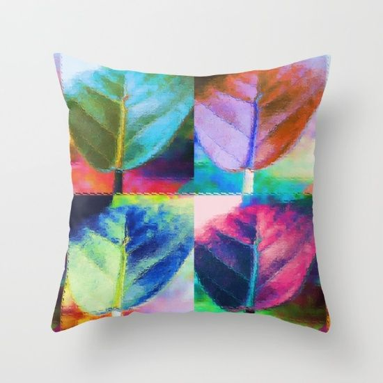 was $20., now $18. - Throw Pillow made from 100% spun polyester poplin fabric, a stylish statement that will liven up any room. Individually cut and sewn by hand, each pillow features a double-sided print and is finished with a concealed zipper for ease of care.  Sold with or without faux down pillow insert.