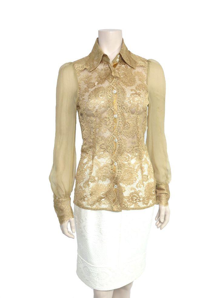 Dolce & Gabbana Sheer Lace Blouse www.sabrinascloset.com