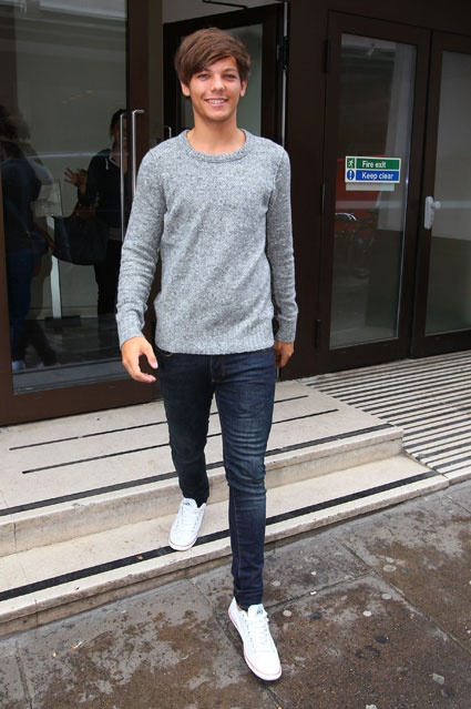 one direction's louis tomlinson leaving sony in london july 2012. looking sexy as usual