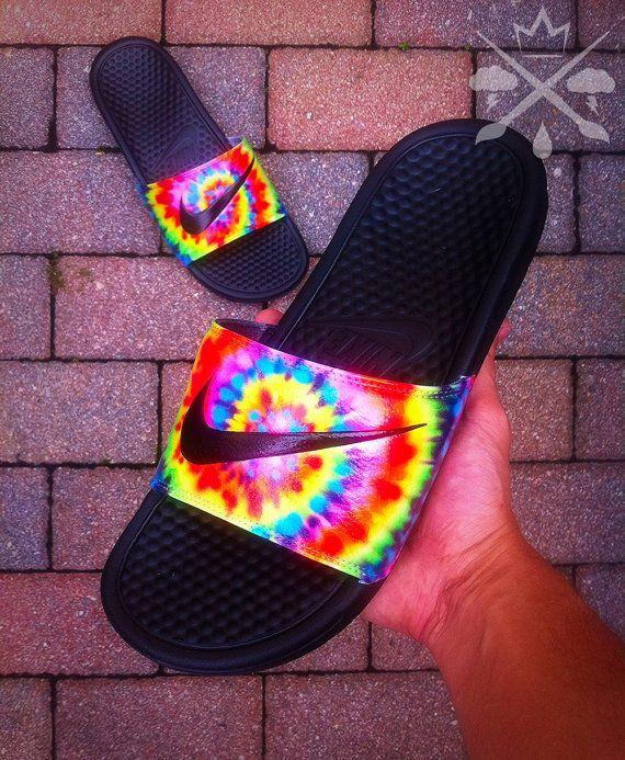Nike Custom Trippy Tie Dye Psychedelic Hippy by DrippedCustomz