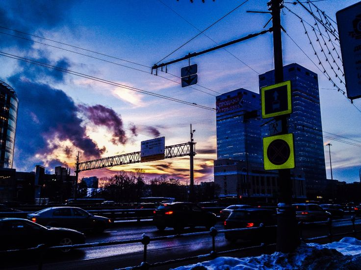 Traffic at Moscow/Leningradskoe street