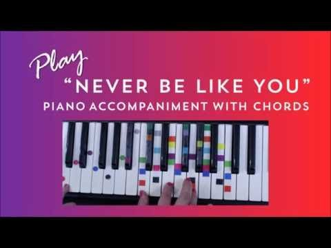 How To Play Never Be Like You On Piano - Flume Kai