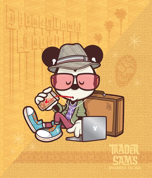 Created by artist jerrod maruyama hipster mickey sees mickeys timeless appeal given a contemporary makeover for the wonderground gallery in the downtown