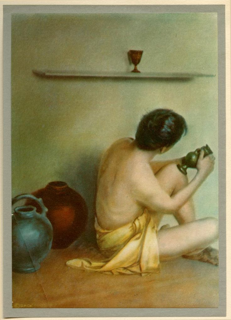 """""""A Potter thumping his wet clay"""" by Adelaide Hanscom (1875-1931)"""