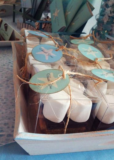 Smore's party favor for a wedding or beach themed party! too cute!!!!